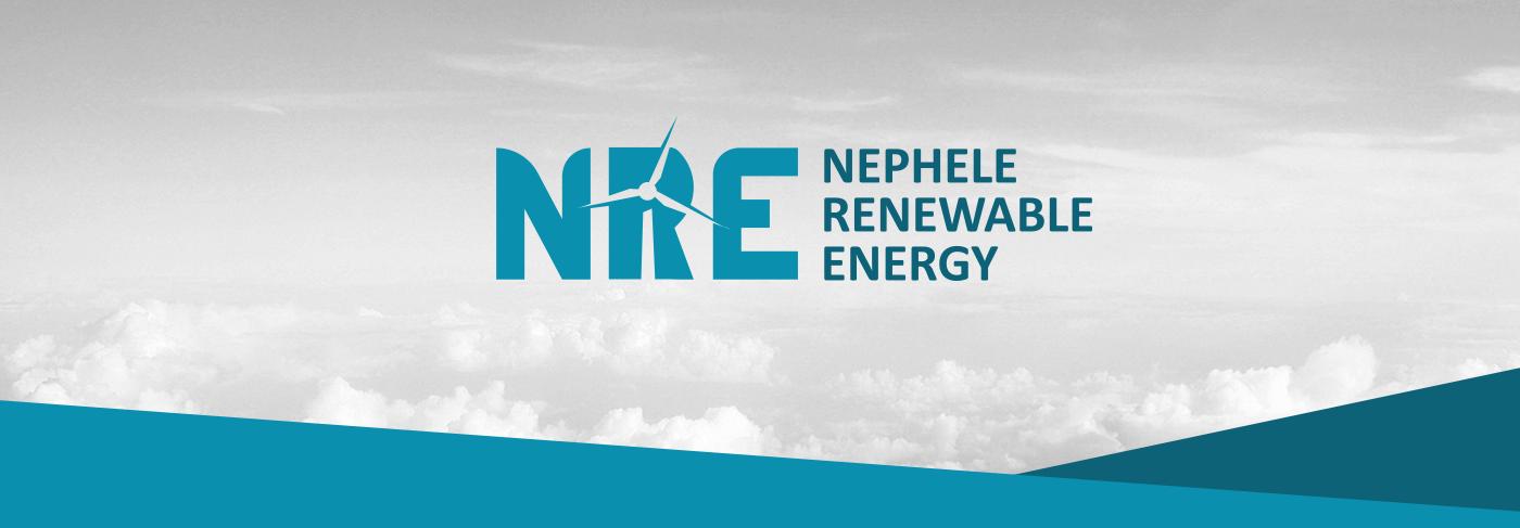 logo Renewable Energy eolic energy wind wind turbines blue logo negative space