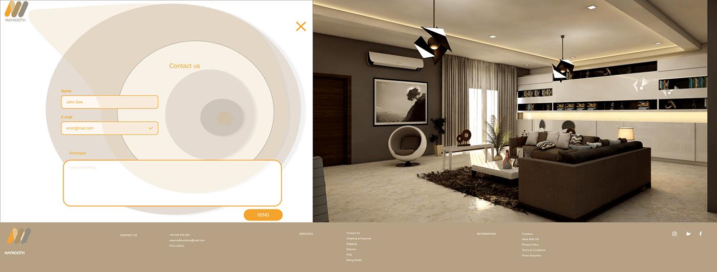 Ecommerce furniture store UI/UX