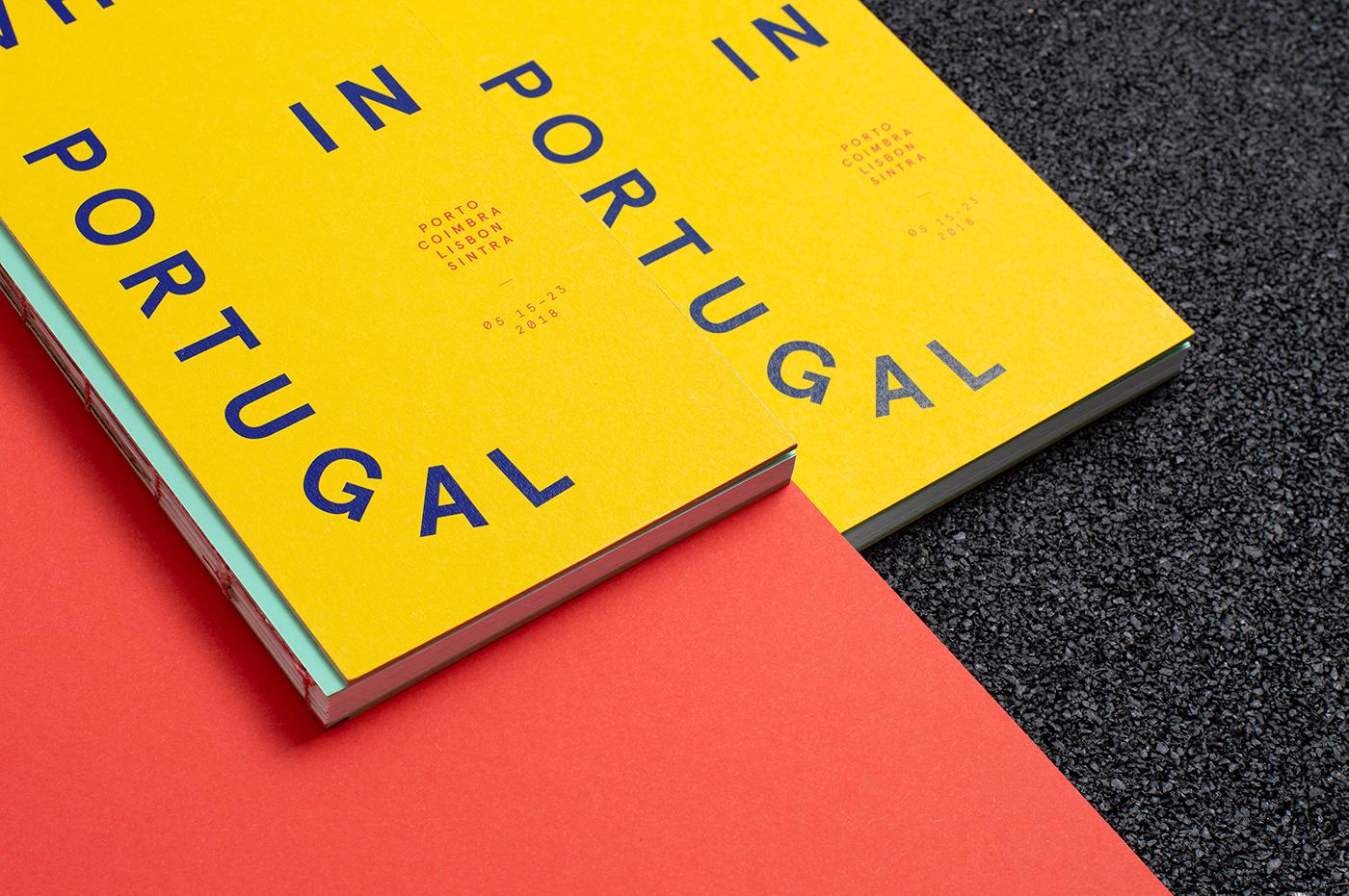 book design Booklet editorial design  handbound handmade Layout Portugal print travelogue Zine