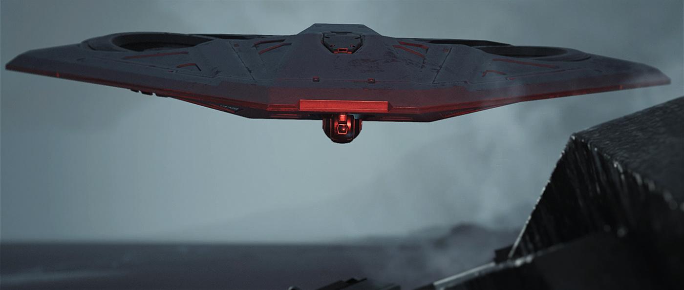 cinematic drone mech science fiction Scifi UE4
