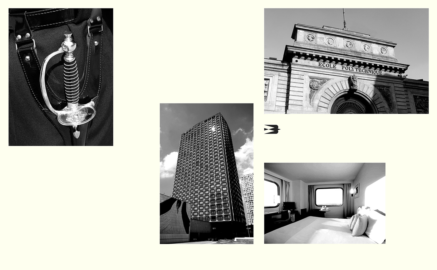 Investment Paris Logotype bird symbol typography   realestate brand luxury gold