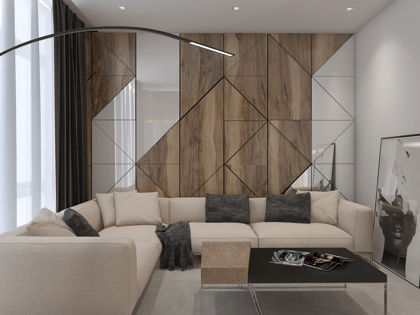 Indoor Wall Paneling Designs: Apartament In Modern Style On Behance