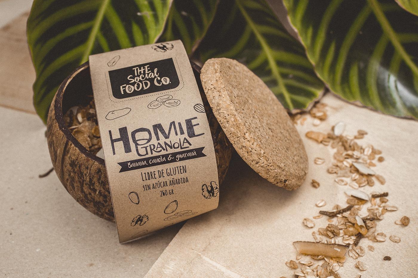 empaque granola Coco acai producto Packaging Coconut product eco ecologico