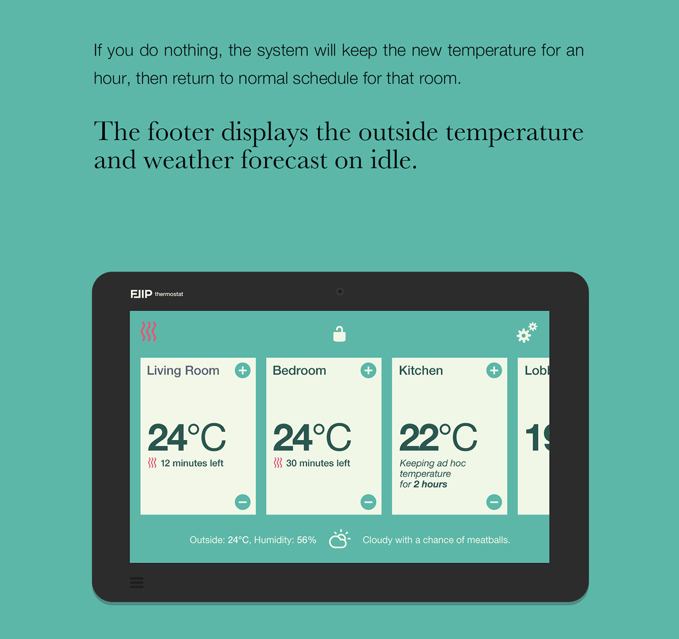 thermostat UI ux intelligent touch device
