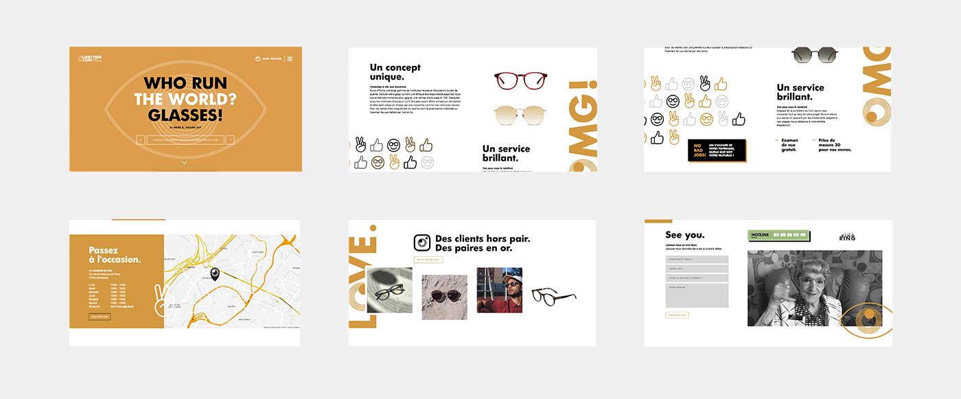 Webdesign glasses optical Fashion  eyewear