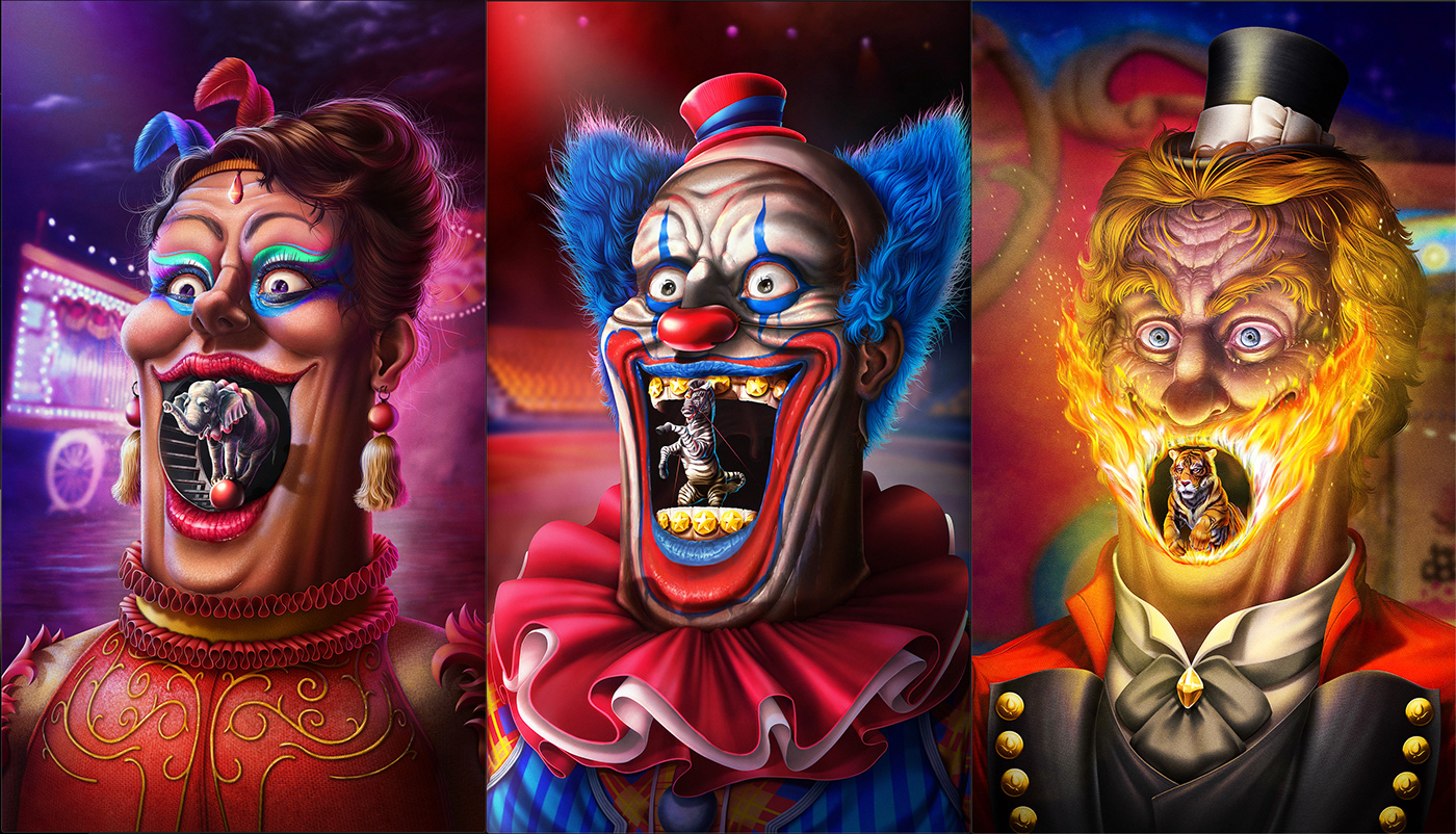 Advertising  animals Character design  Circus CLIP STUDIO PAINT Digital Art  digital painting ILLUSTRATION  inspire Peta
