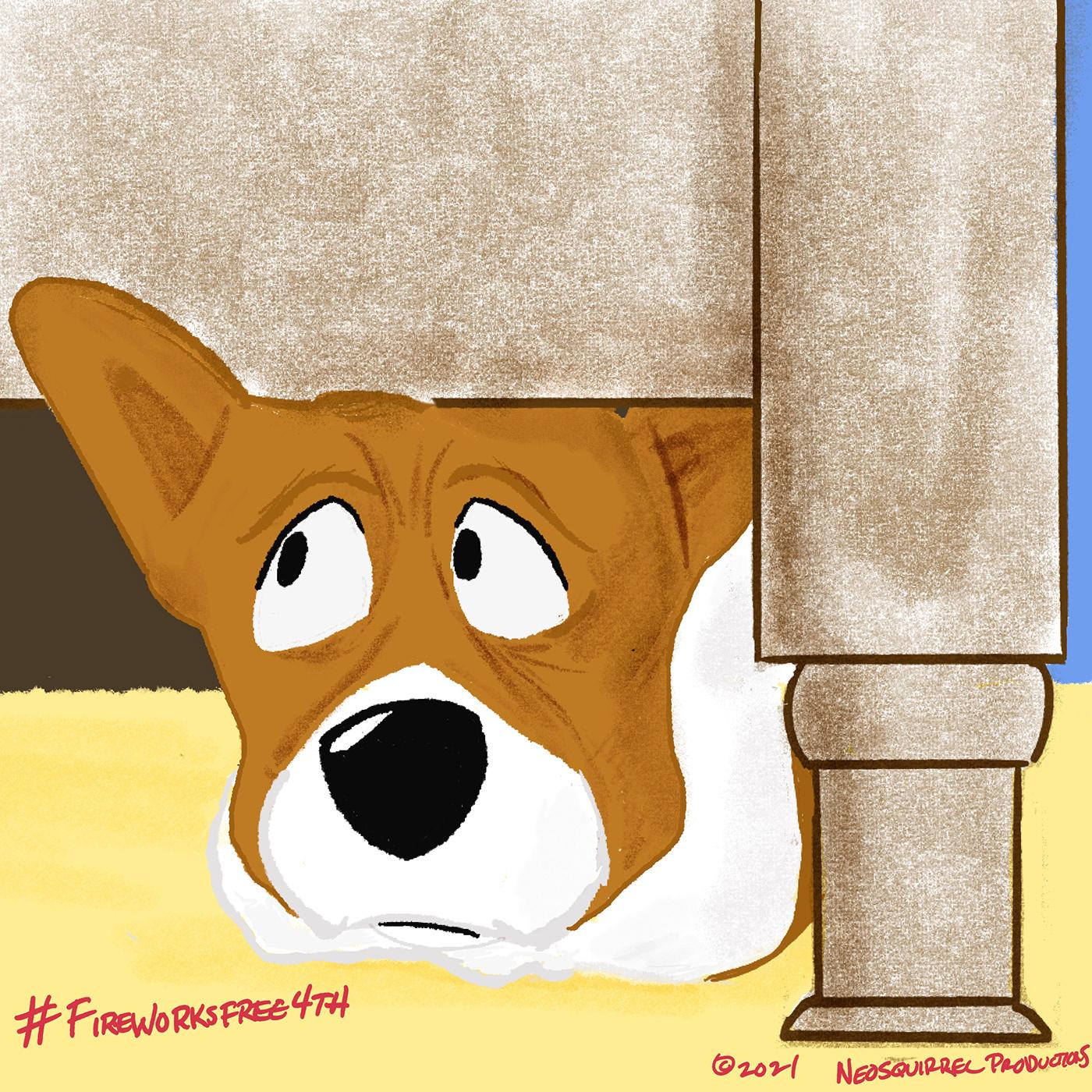 4th of July Cartooning  characterdesign DIGITALDRAWING dog Drawing  ILLUSTRATION  Illustrator Procreate sketch