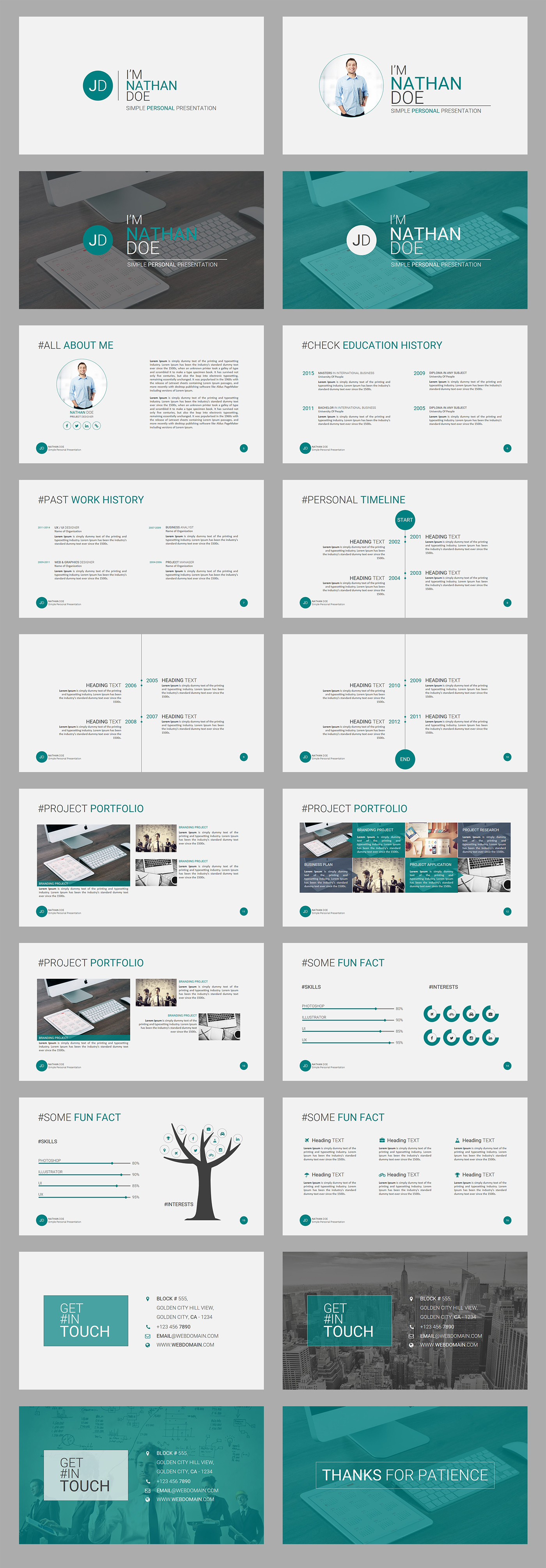 Jd personal powerpoint presentation template free on behance maxwellsz