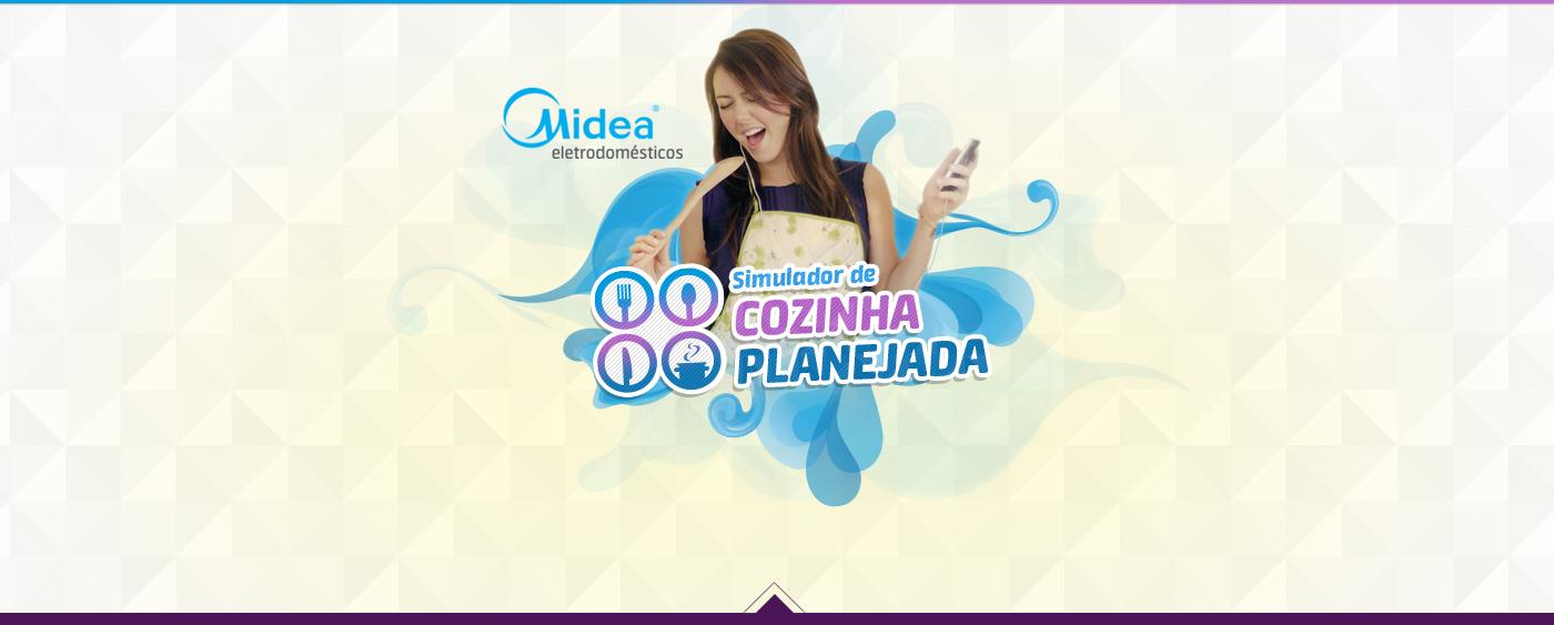 kitchen Midea cozinha simulation 3D furniture appliance móveis