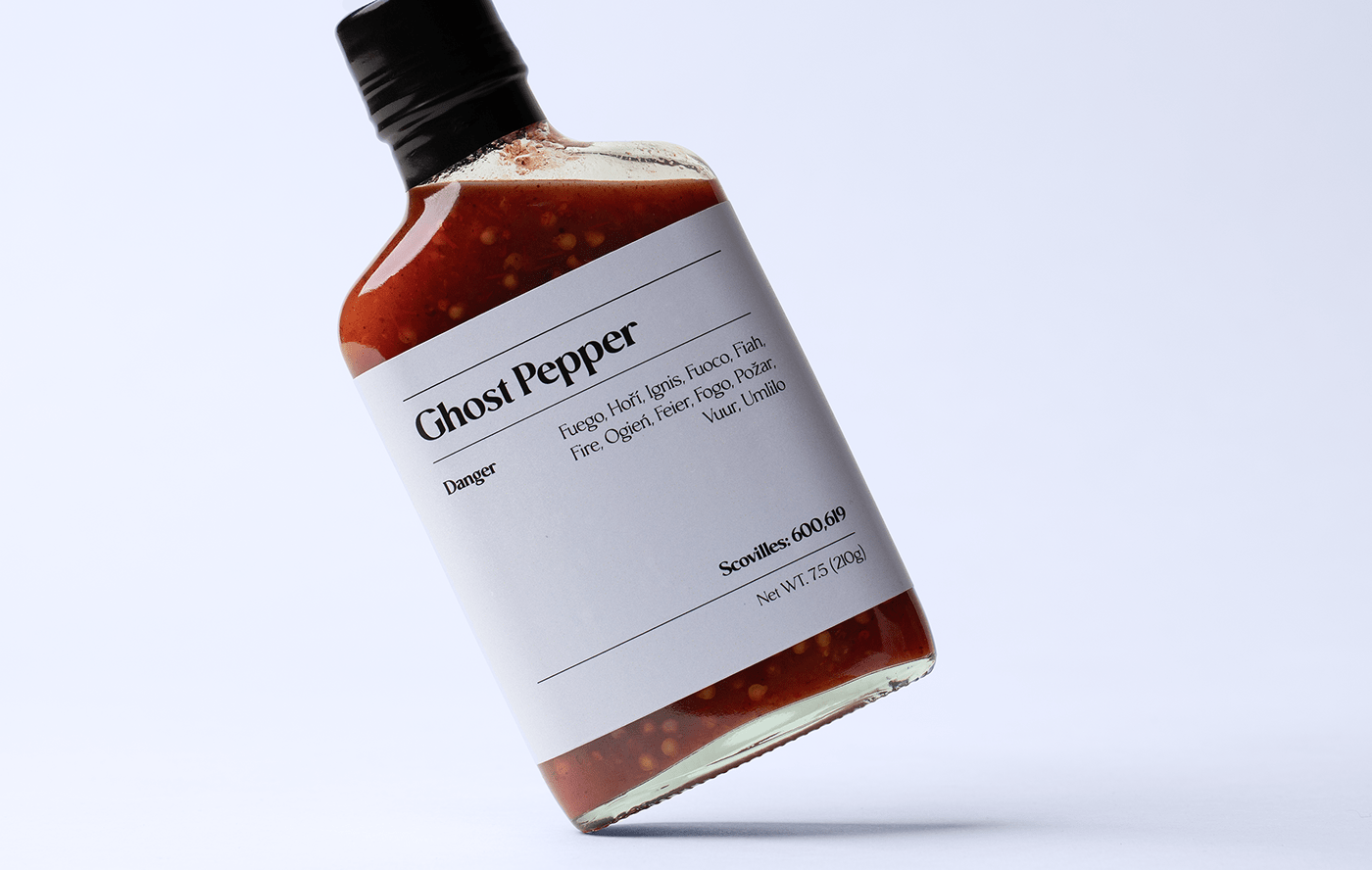 ghost pepper bottle product photography