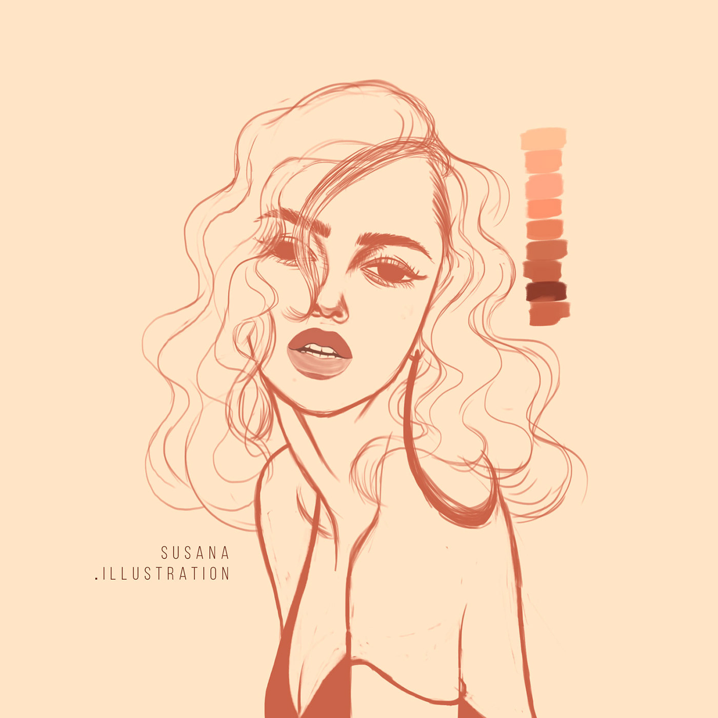 ILLUSTRATION ,devil,girl,sexy,woman,Drawing ,photoshop,portrait,book,color