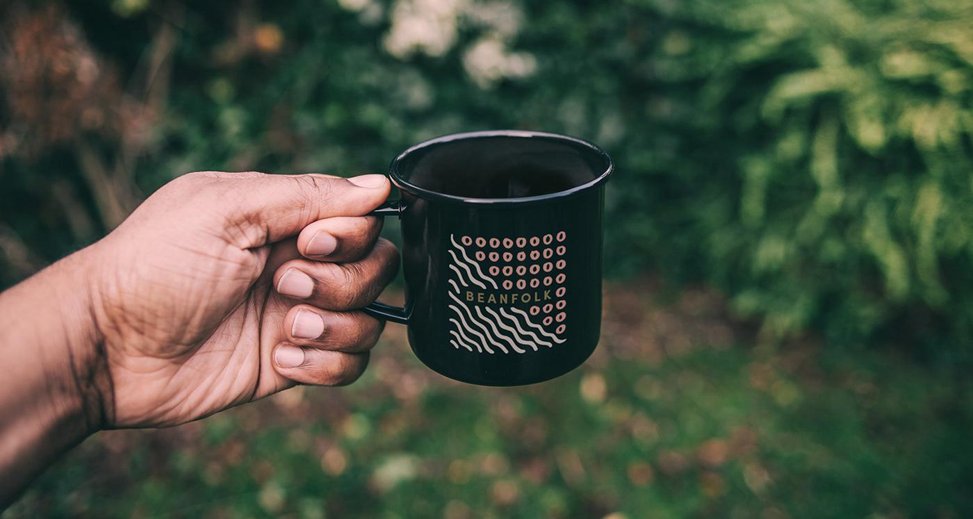 Coffee,Papua New Guinea,shanghai,coffee bean,specialty coffee,coffee branding,Logo Design,watercolor,textures,organic