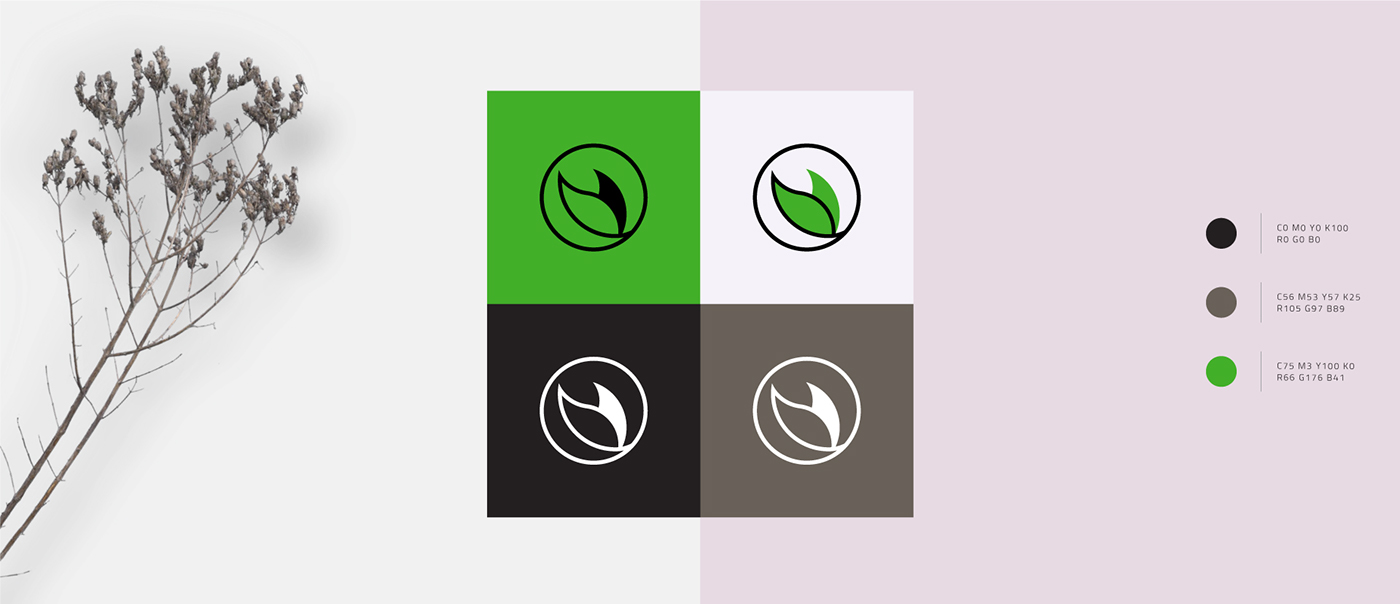 lodyzka designfrompoland logo branding  green flower Health Blog typography   minimal