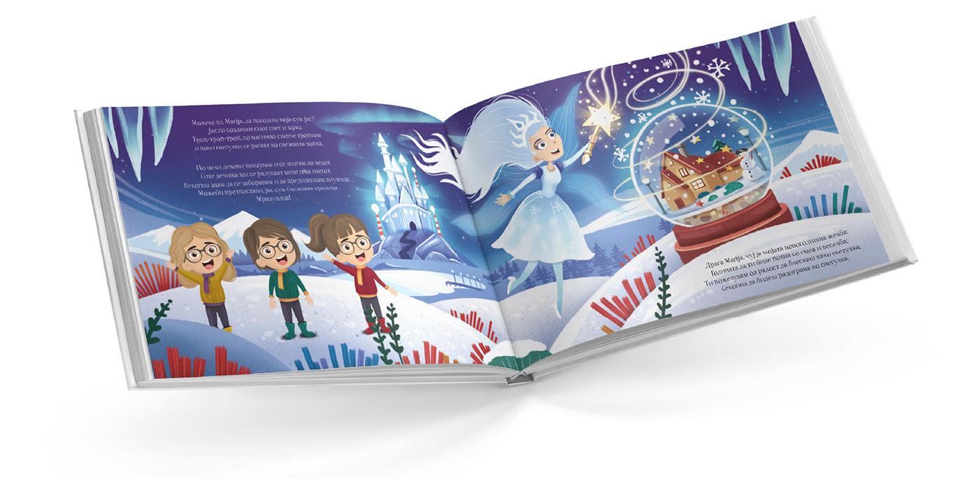 children's book illustration on a mockup