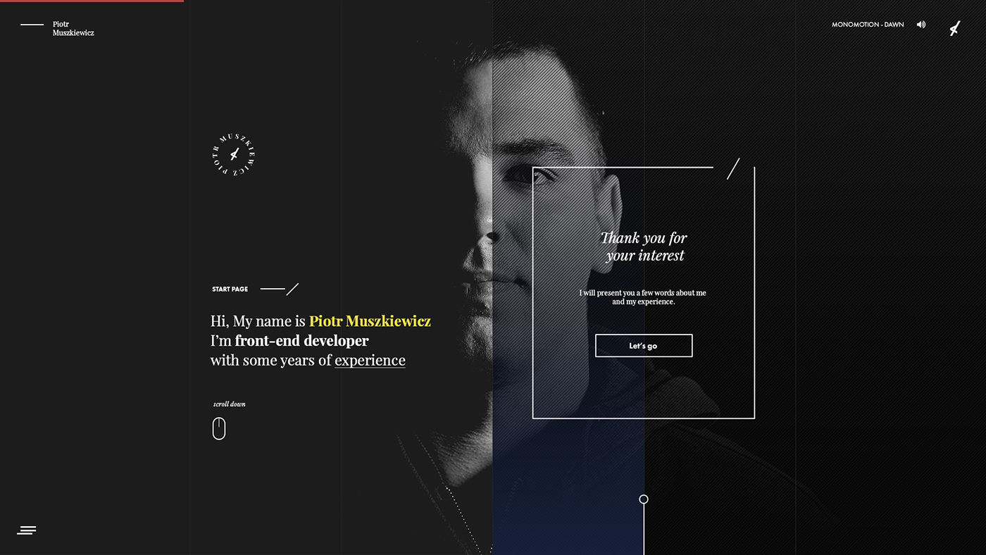 Piotr Muszkiewicz - Personal Branding & Website on Behance