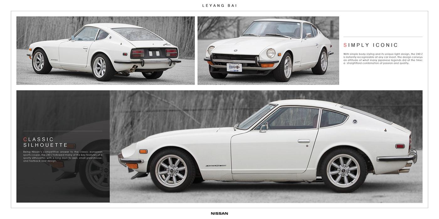 240z 350z 370Z 480z car design FAIRLADY JDM Nissan sports car Transportation Design