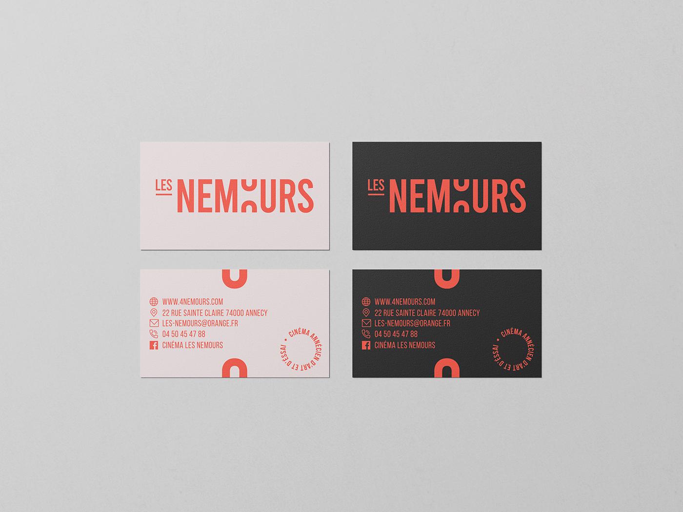Business card Les Nemours