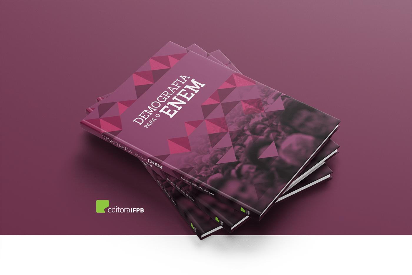 Capa Demografía design Editora editorial Enem geografia Livro