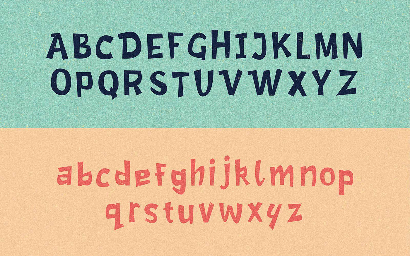font lettering Free font Retro vintage cartoon 1950's type