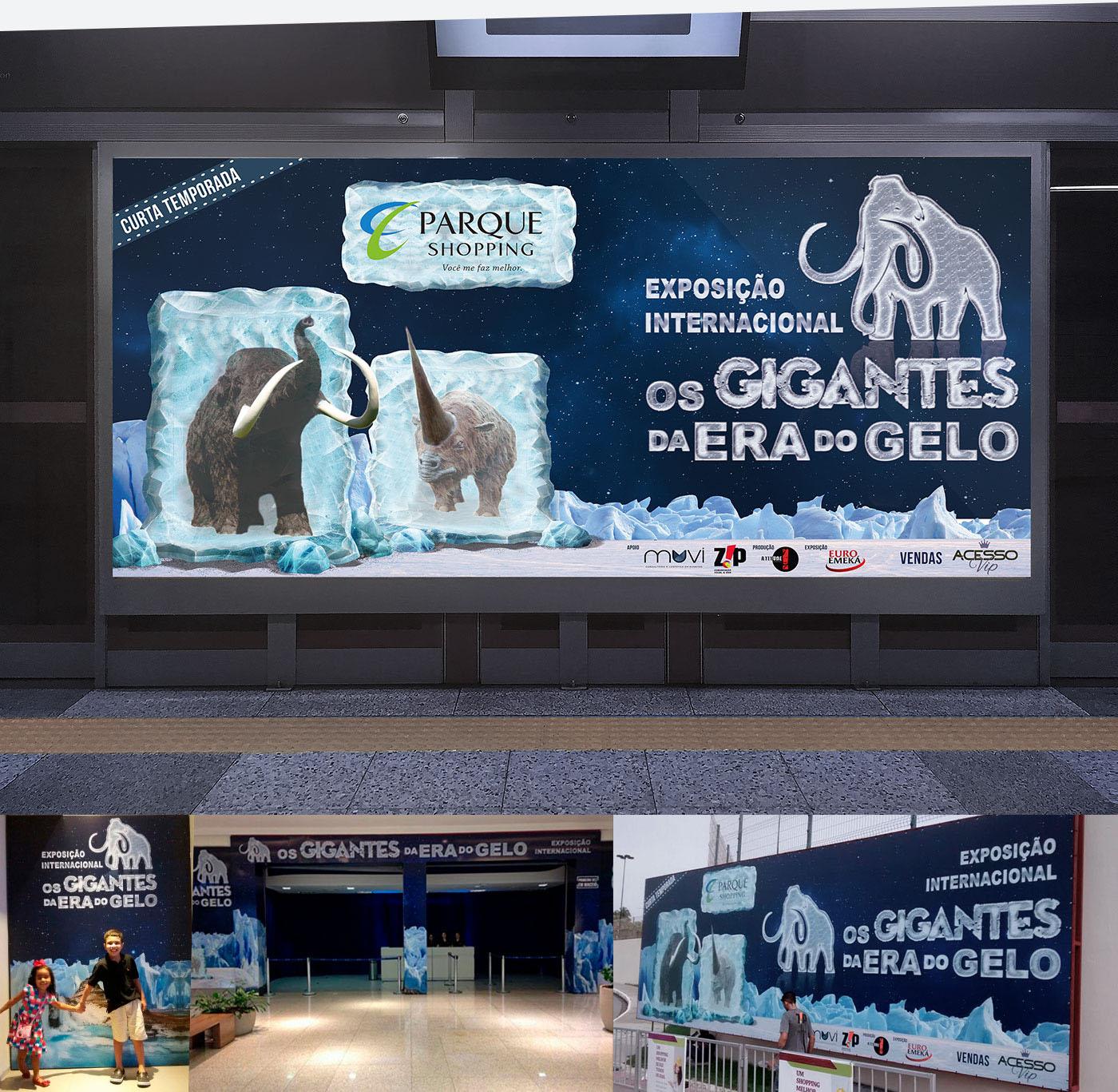 gigantes Era do Gelo mammoth ice Parque Shopping AcessoVip RonaldoTenorio EuroEmka
