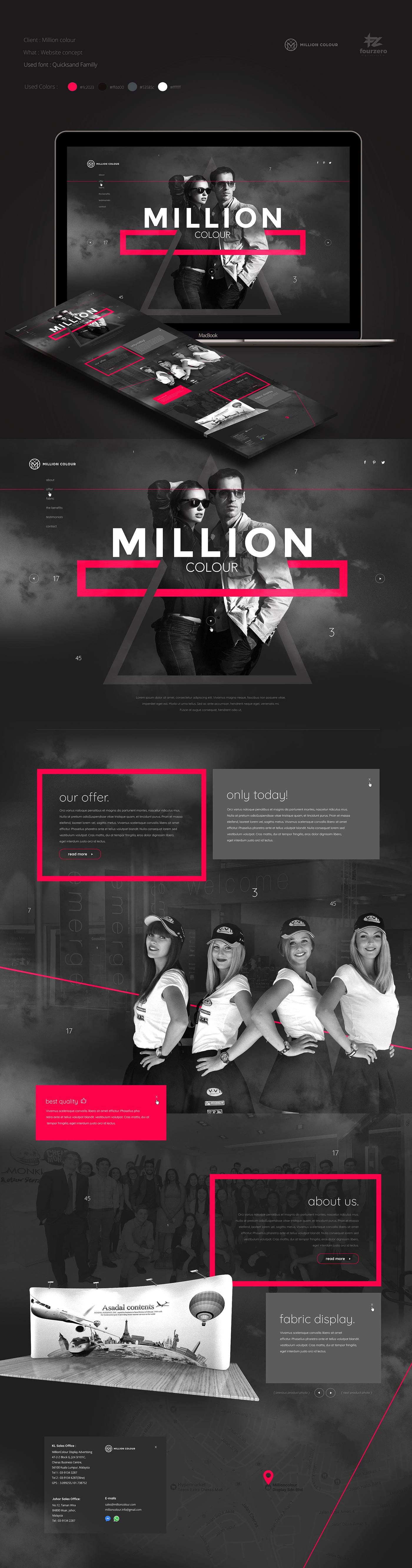 UI Web design minimal elegant bogucki modern million fourzero dark