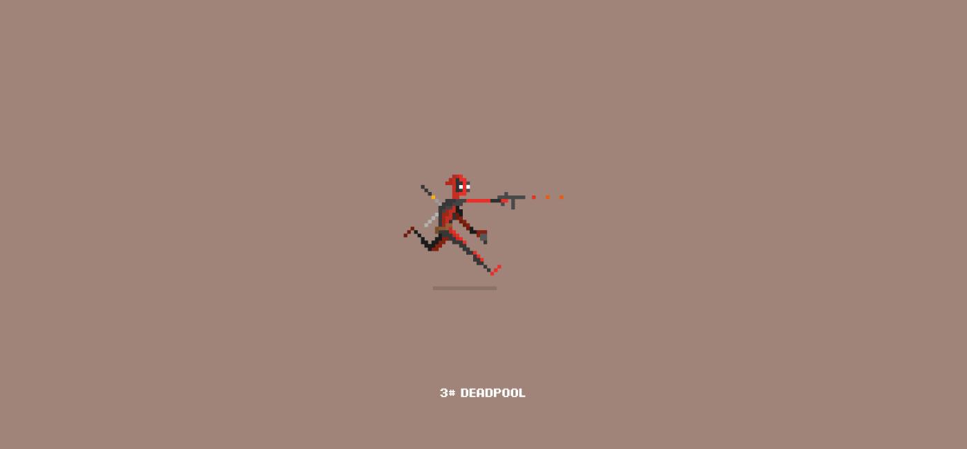 Character Design Pixel Art : Pixel art marvel characters on behance