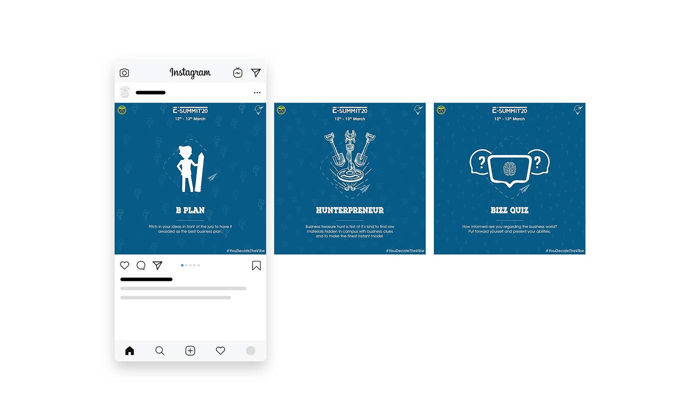 college College Event e summit entrepreneur entrepreneurship   Event graphic design  minimal minimalist print design