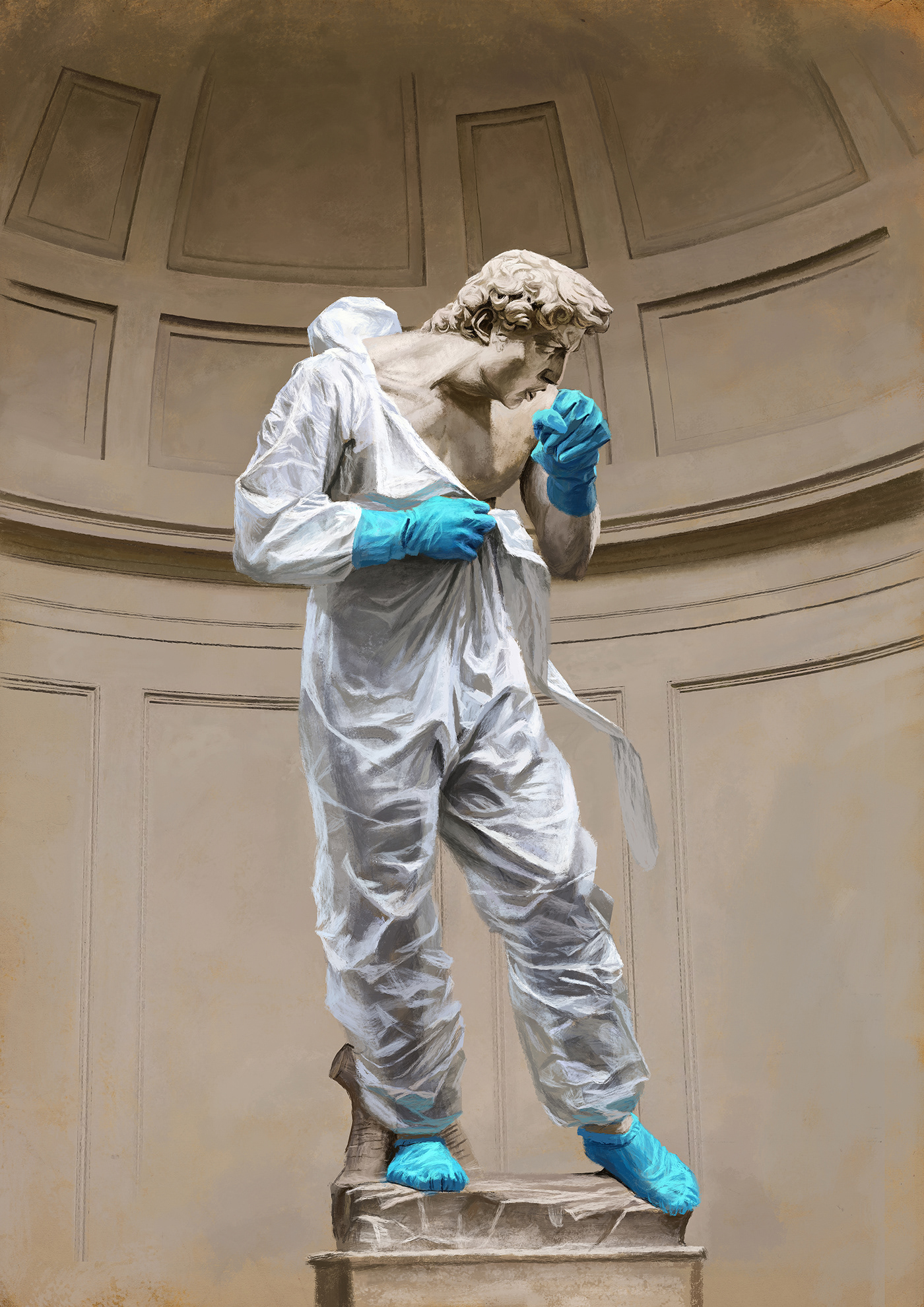 corona Coronavirus david epidemic Italy Michelangelo painting   sculpture still life virus