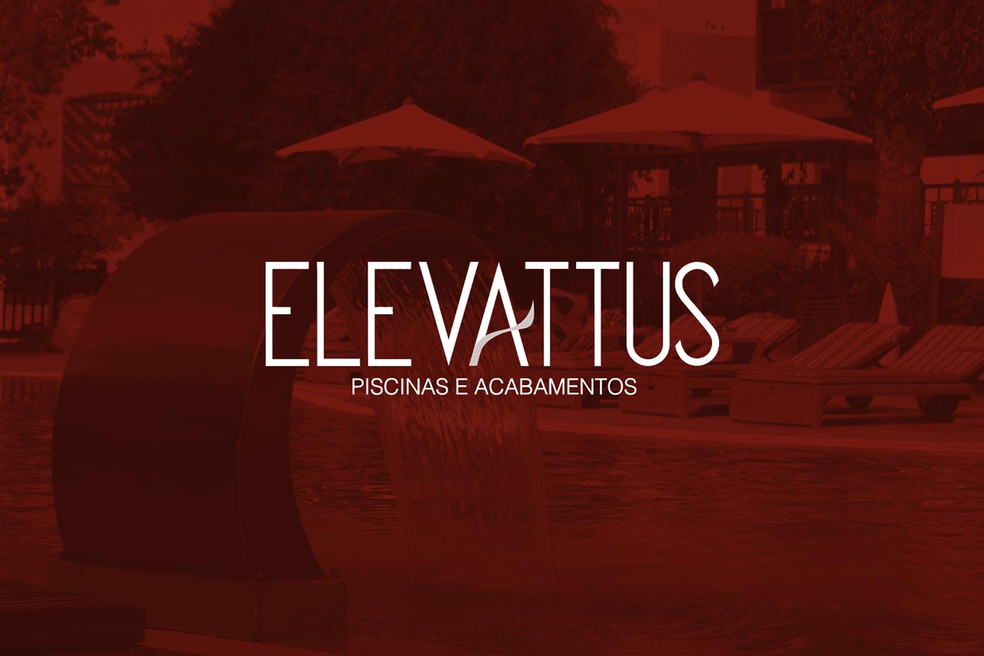 marca site piscina Acabamento branding  naming design Web Design  elevattus aleto