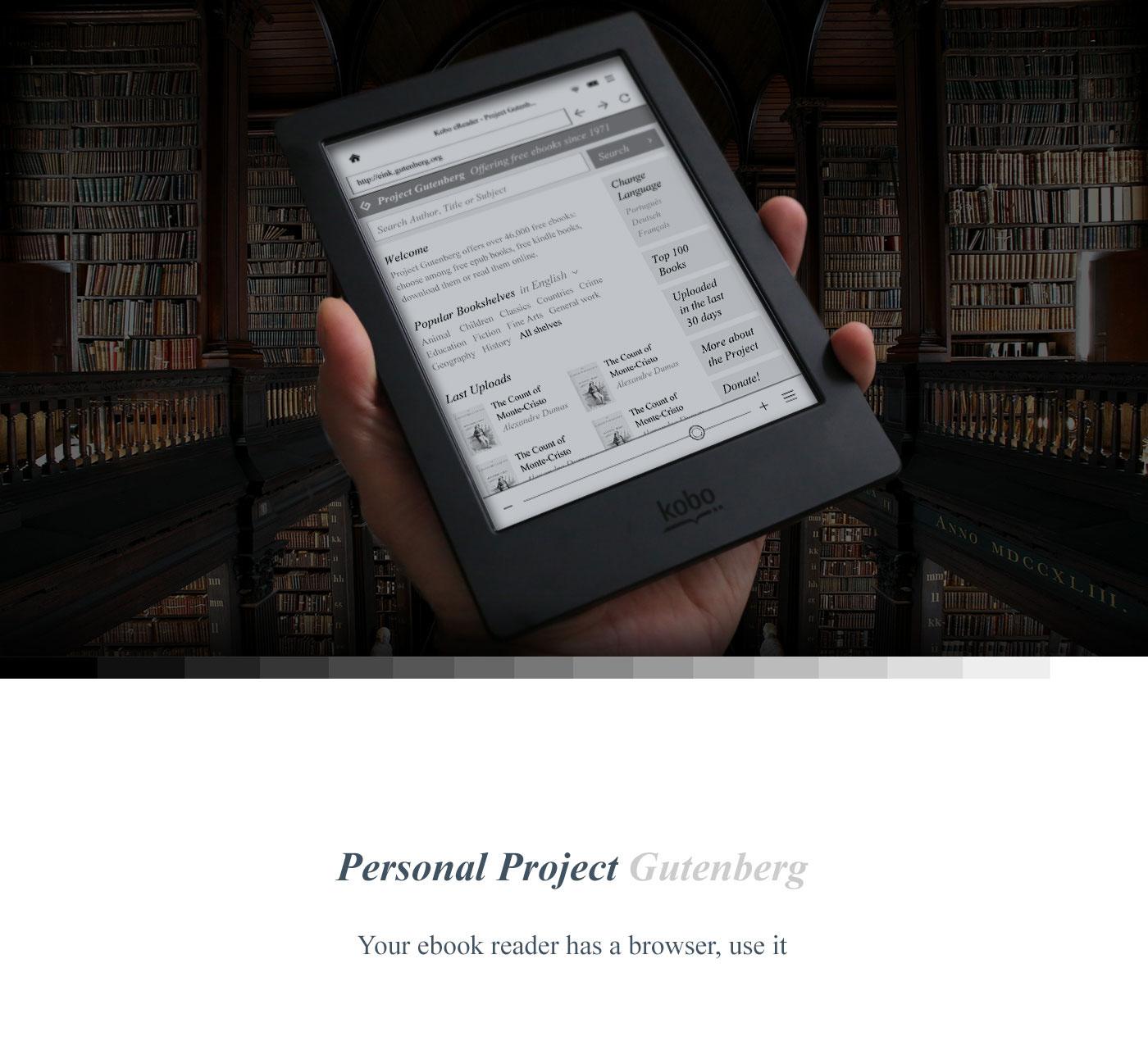 eink eReader ebook Gutenberg