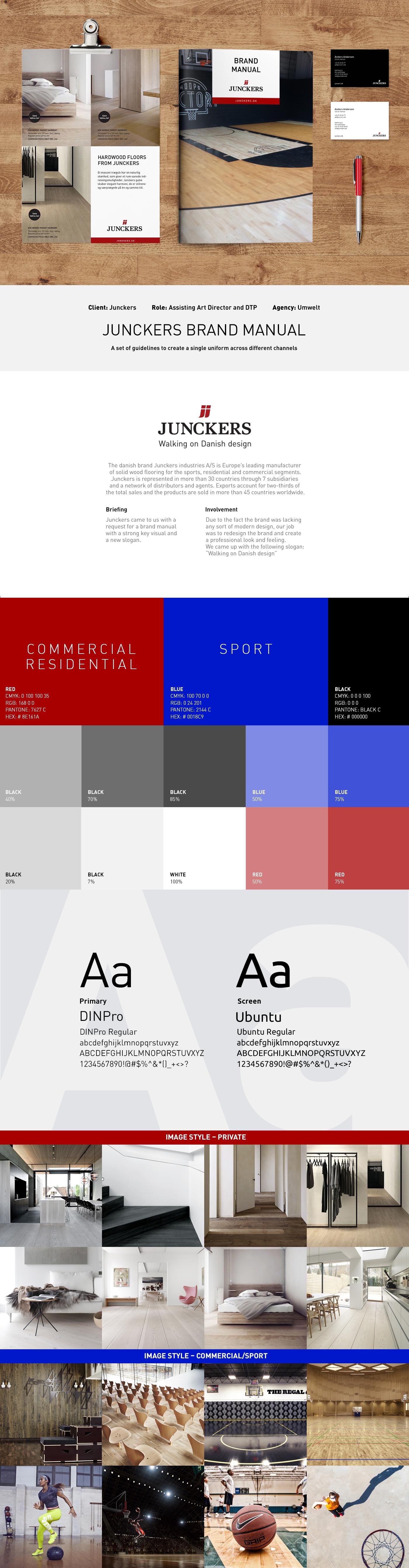 branding  brand manual Junckers CVI logo