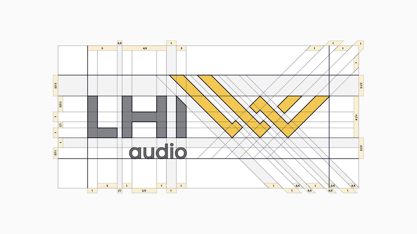 brand Audio business symbol clean grid identity visual Logotype studio