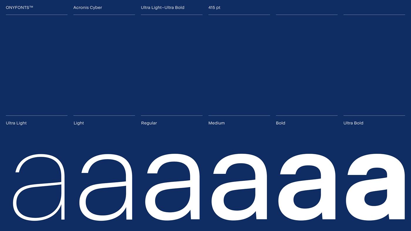 acronis,cyber,font,fonts,Futura,helvetica,IT,tech,type,Typeface