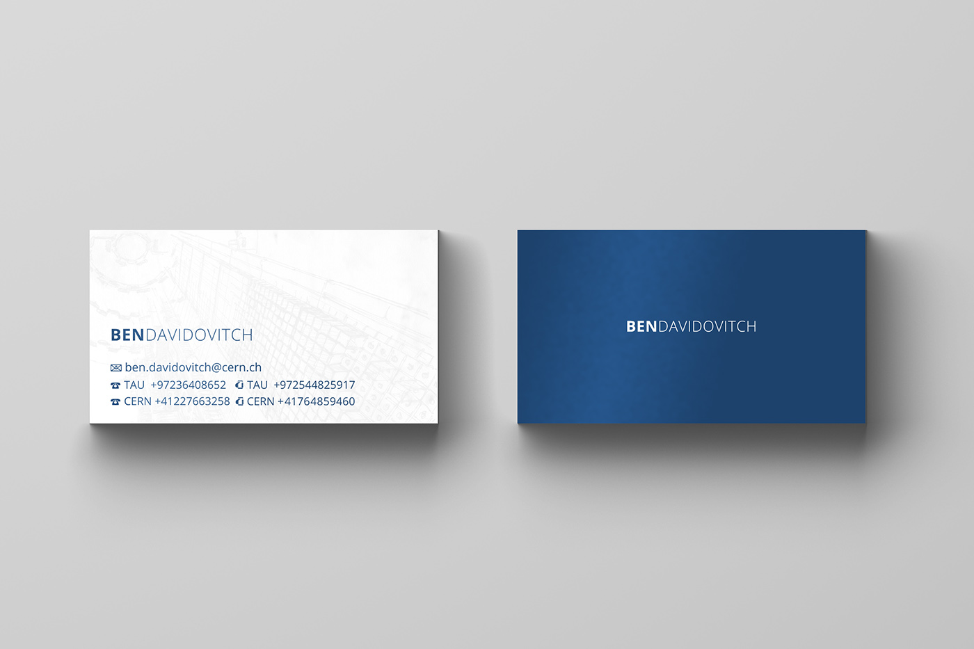 Business card for dr in physics on behance business card for a scientist from tel aviv university that also works in cern switzerland name and details are fake for privacy matters colourmoves Image collections