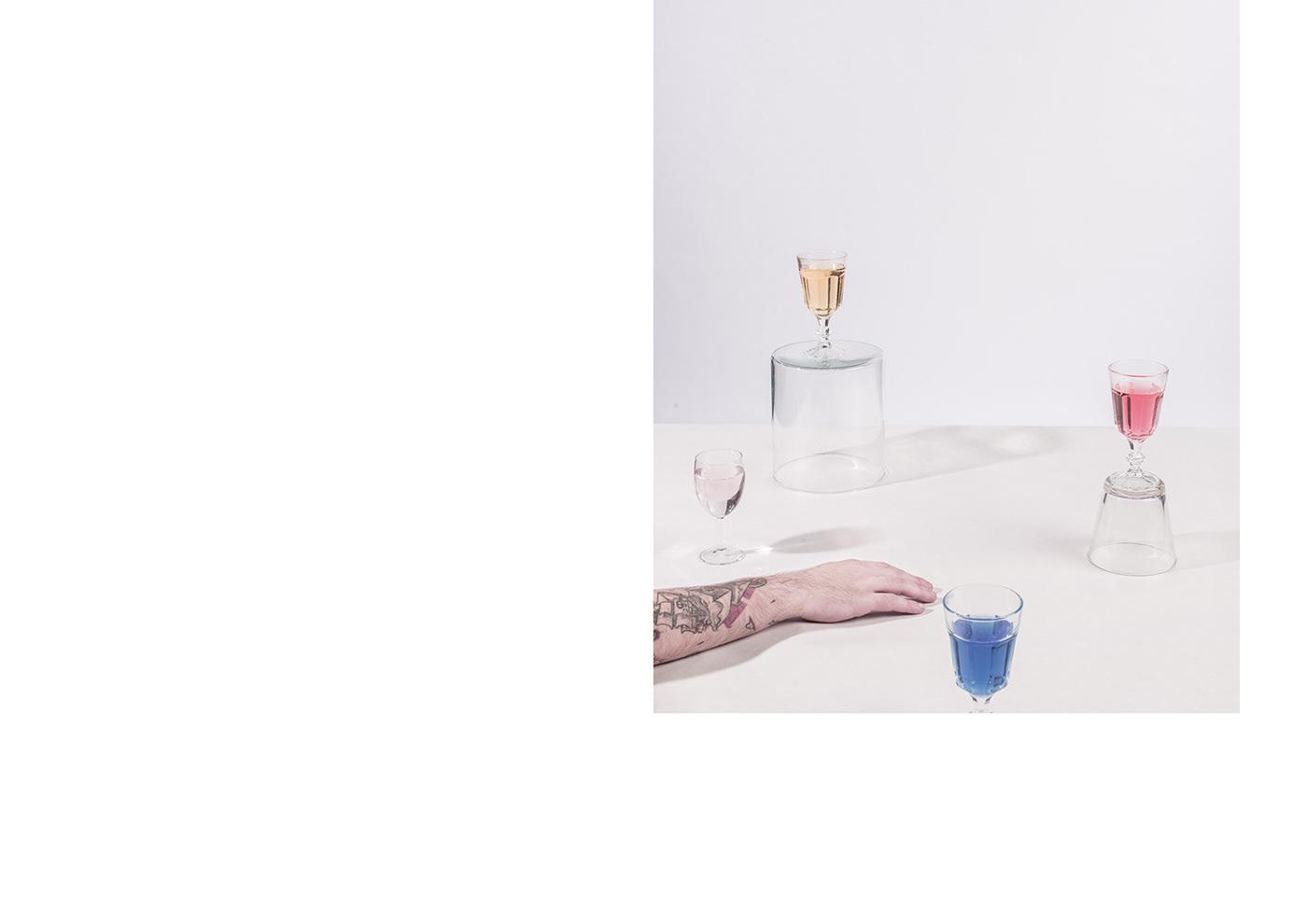 shooting shoot experimental glasses compo White design concept Minimalism