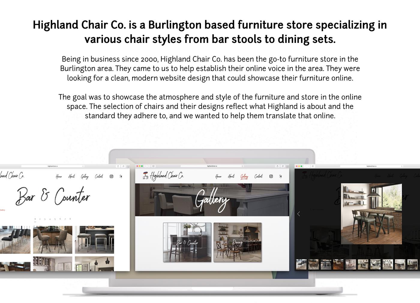 UX design Web Design  design logo branding  furniture Website Mockup