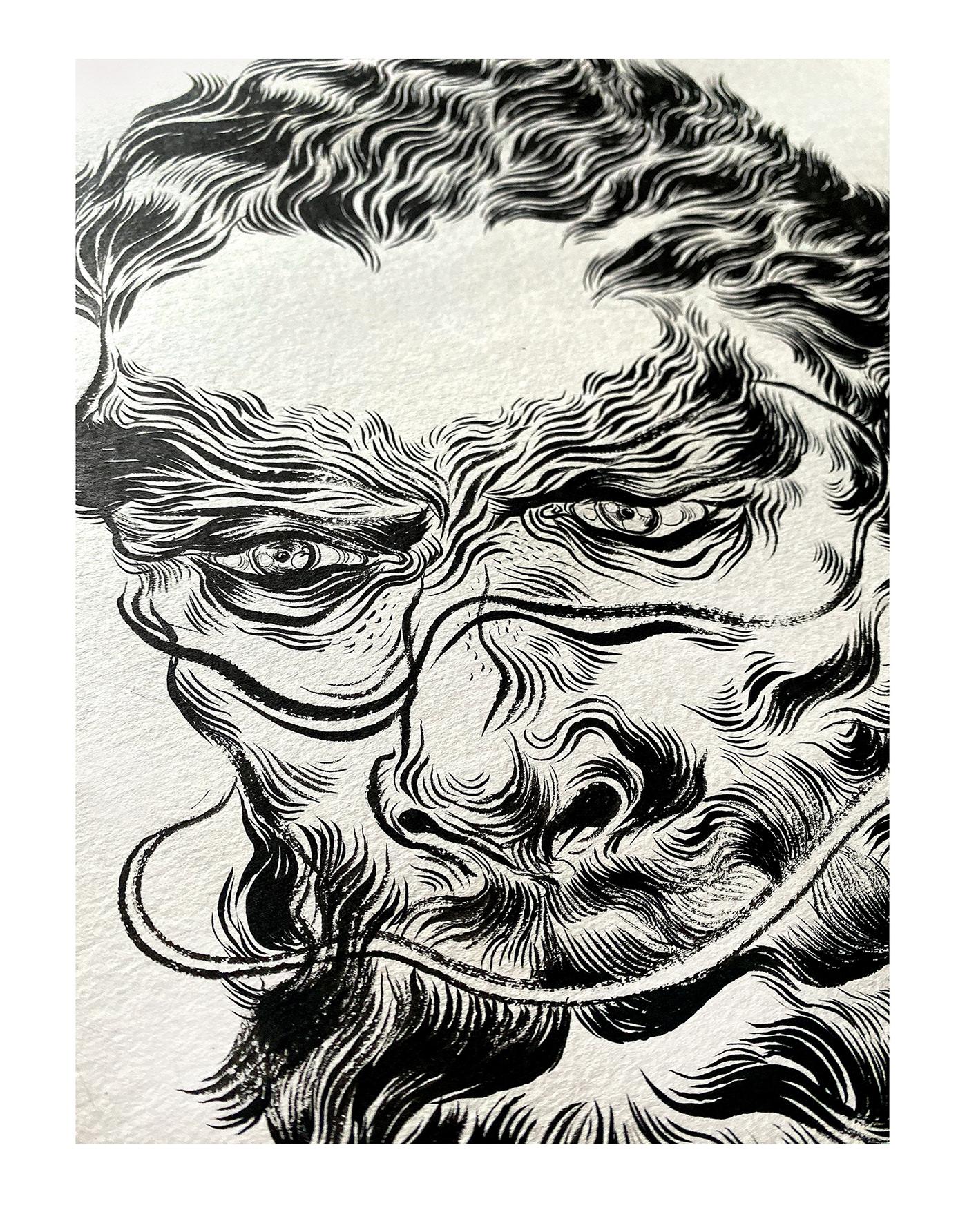 art artwork brushpenart brushstrokes Drawing  handdrawn ILLUSTRATION