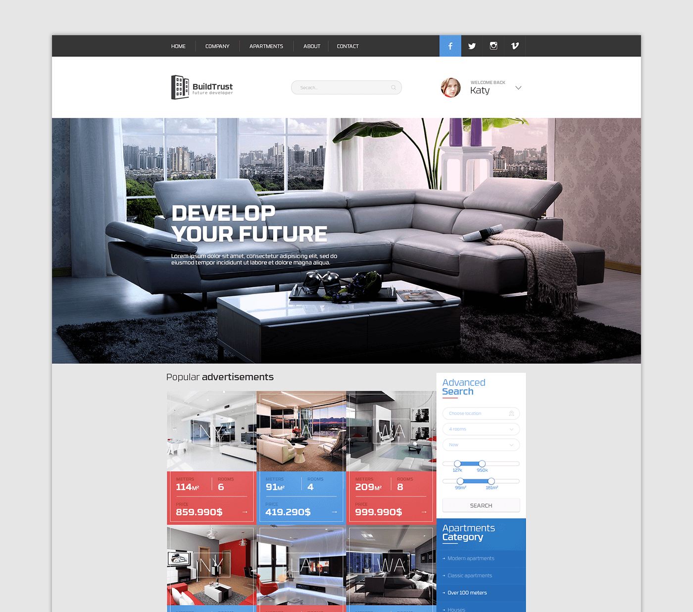 Apartments Websites: Advertisement Apartments Website On Behance