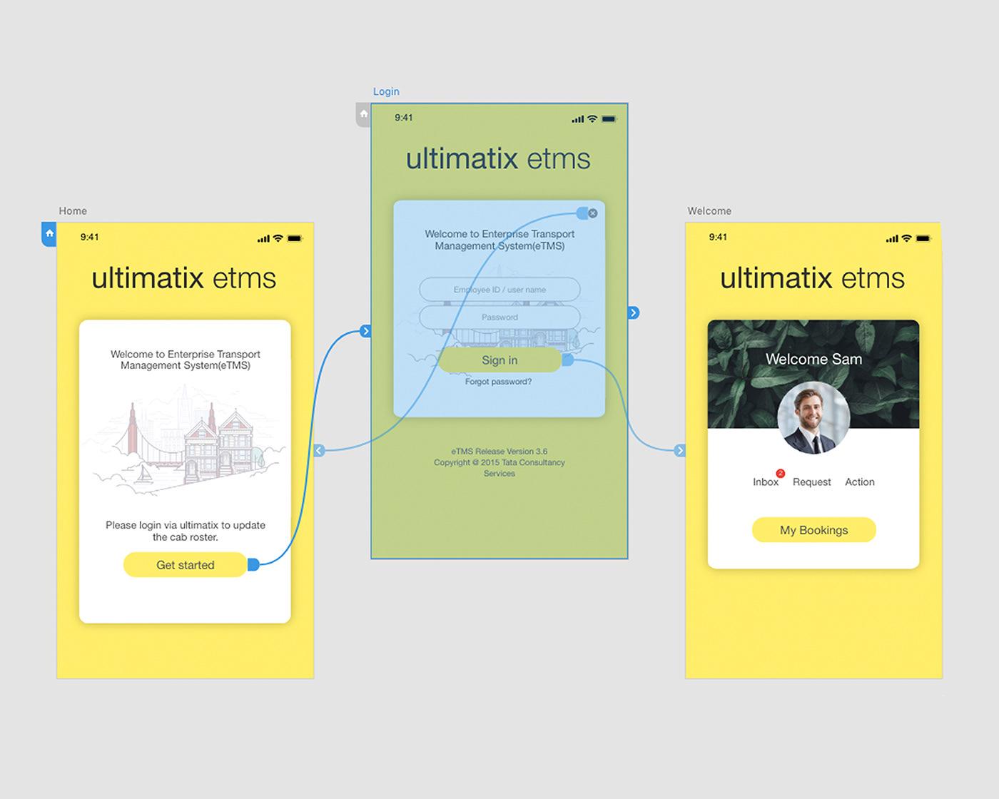 TCS eTMS App redesign on Behance