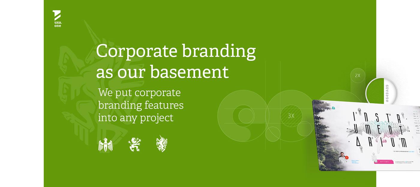 design UI/UX Web team Work  presentation site portfolio branding  uxa.one