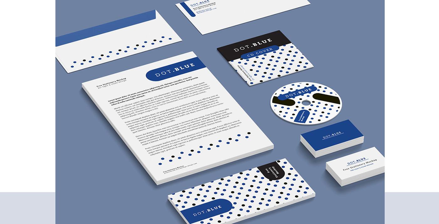 Mockup free psd template Corporate Identity