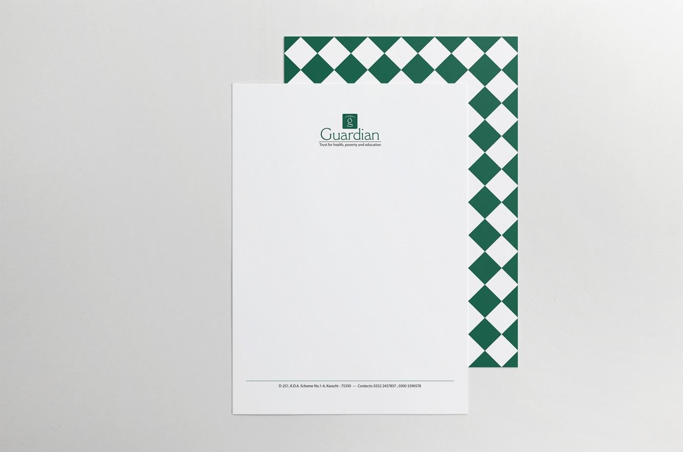 graphic design print letterhead guardian trust Education children Health