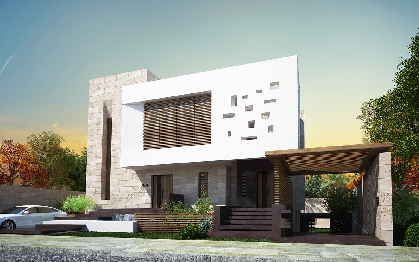 688 960 arq for Viviendas modernas fachadas
