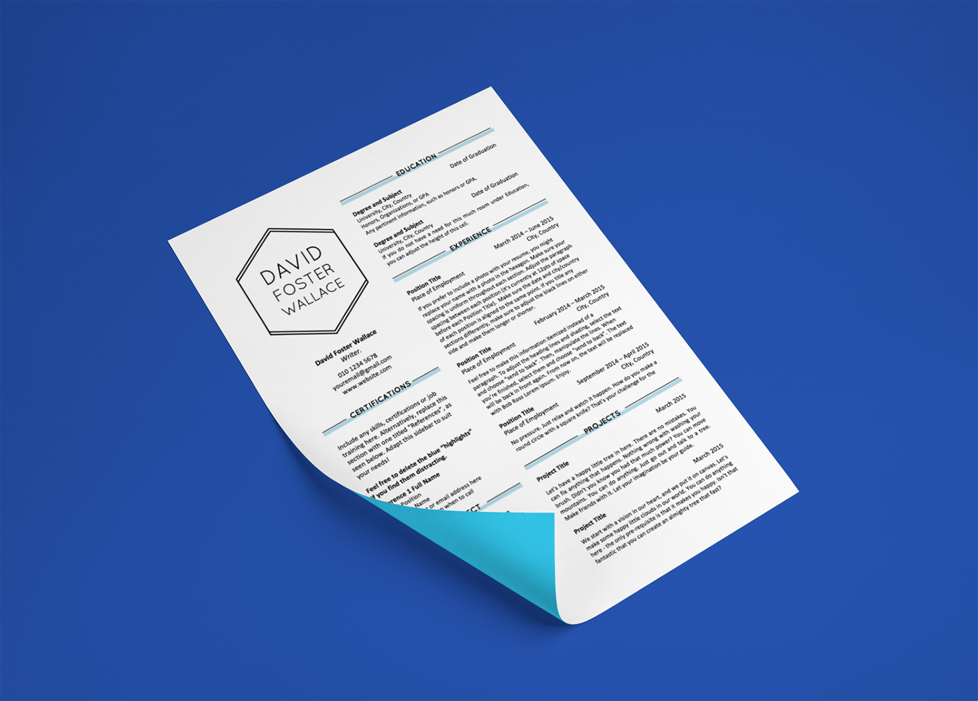 resume templates 2  2015  on behance