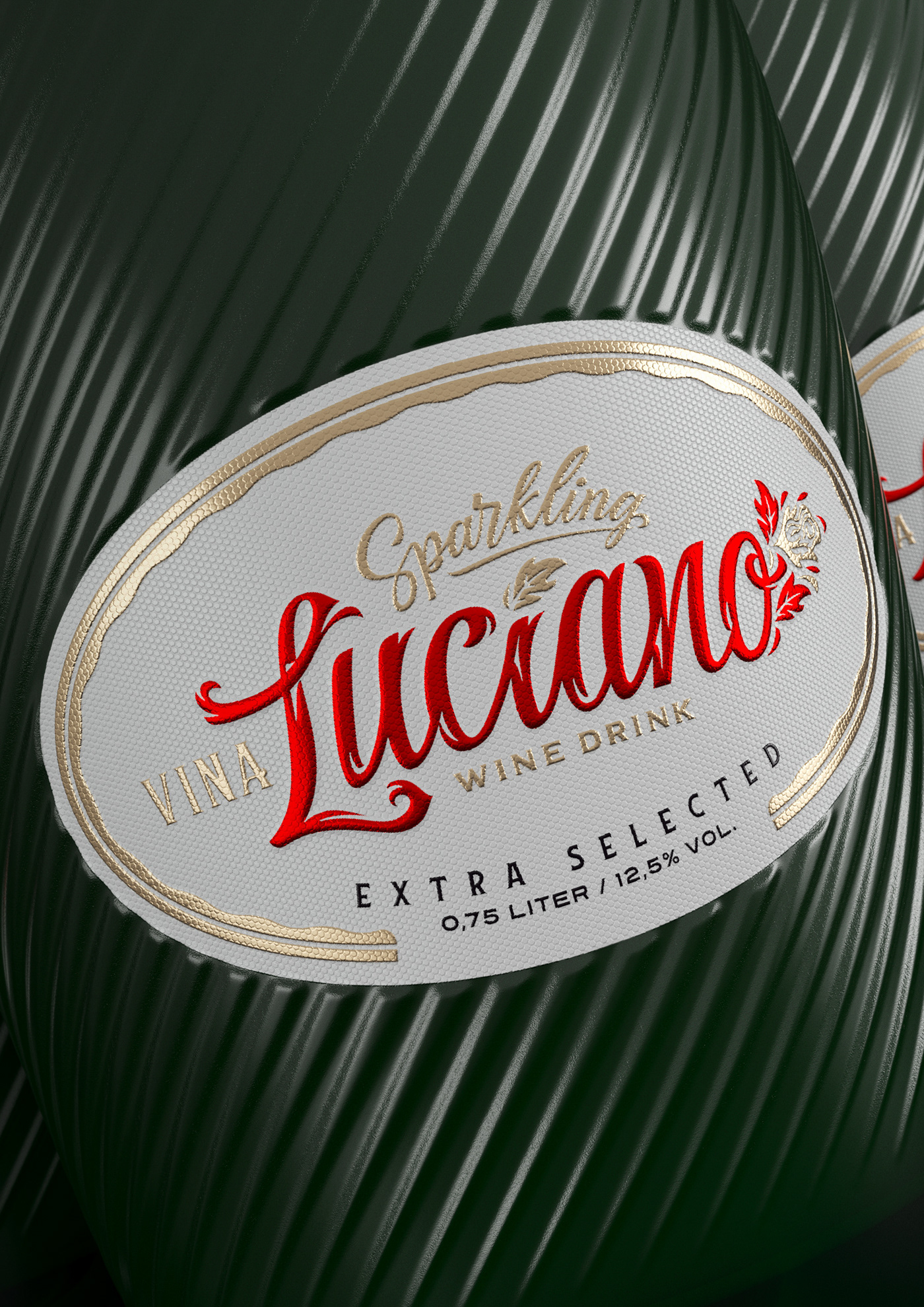luciano wine drink alcohol Viña sparkling extra selected