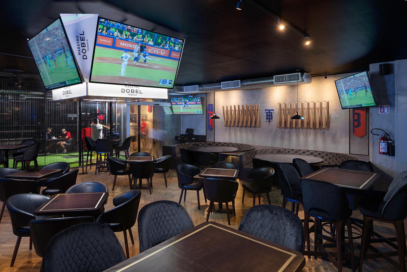 baseball,bar,restaurant,simulator,Isometric,sports,Sportsbar,monogram,logo,colorful