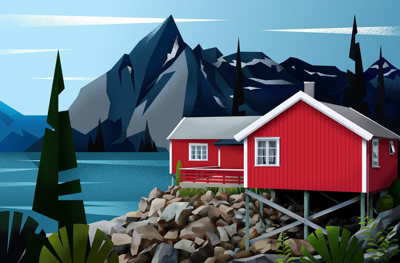 home,house,ILLUSTRATION ,architecture,Interior,Nature