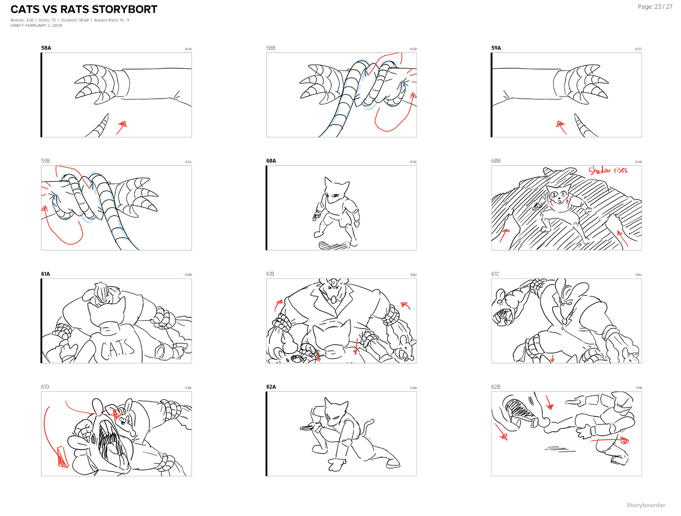 action movie animation  cartoon characters short film storyboarding   pencil test