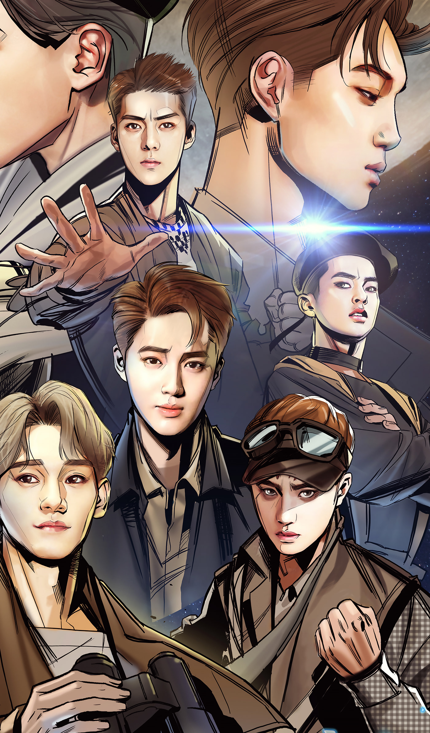 EXO POWER ALBUM COVER Comics Version On Behance