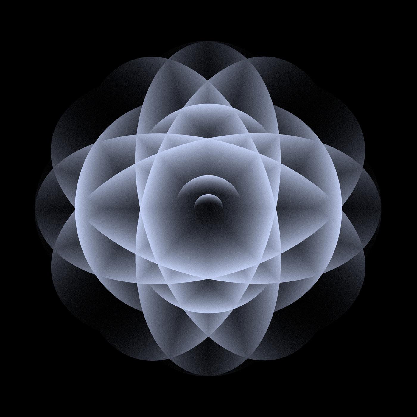 abstract contemporary art Digital Art  geometry gradient ILLUSTRATION  monochrome nft